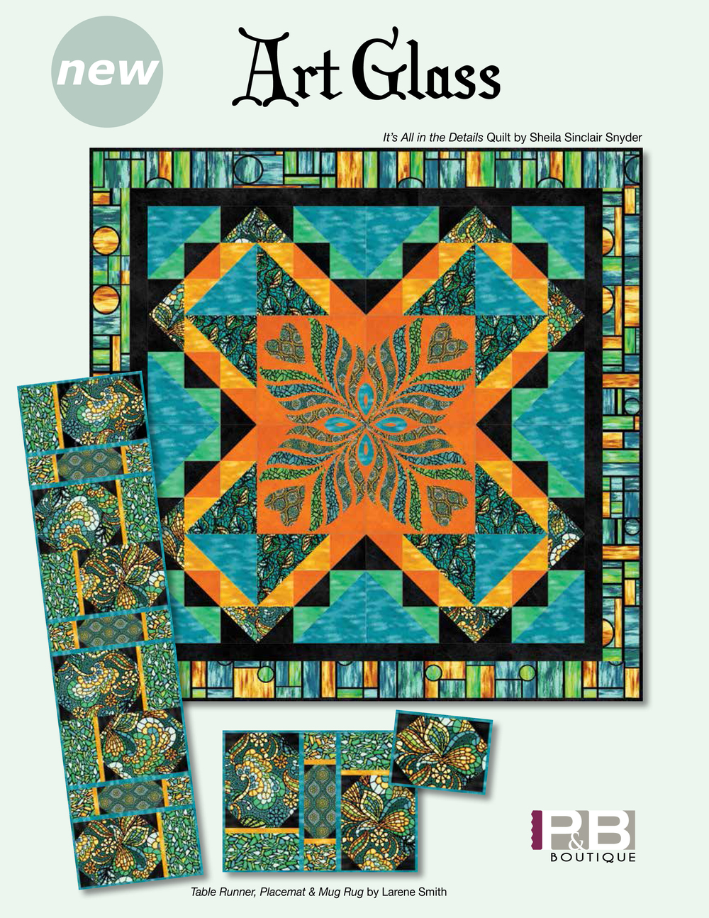 It's All In The Details Quilt by: Sheila Sinclair Snyder Art Glass
