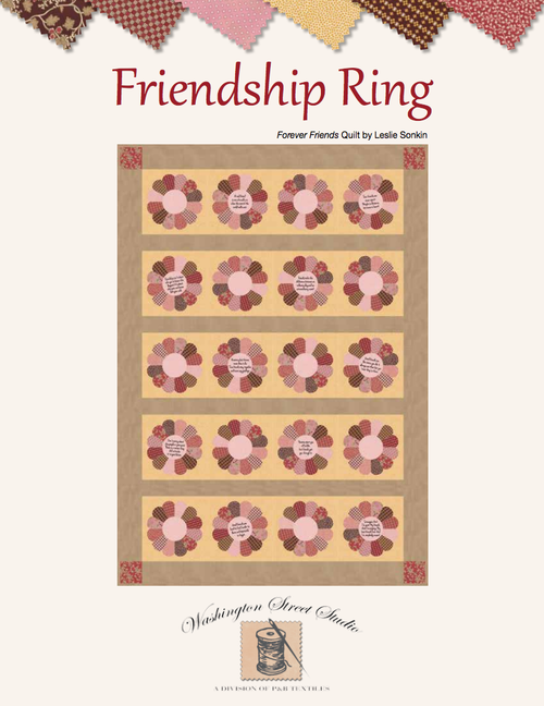 Friends Forever Quilt by: Leslie Sonkin Friendship Ring