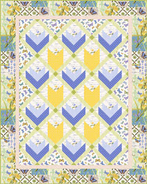 Serenity Fora Quilt Project Sheet (PDF) by Stacey Day Instructions available in our Free Project section
