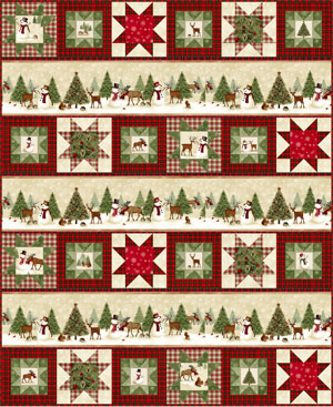 Snow Play Quilt Pattern by Gina Gempesaw Winter's Friends