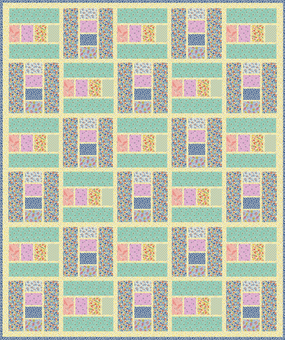 30 Block Quilt by Leslie Sonkin Pattern available in our Free Project section