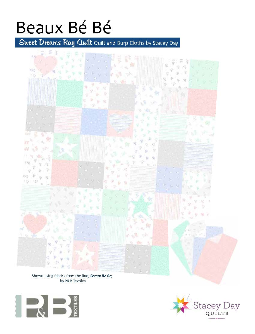 Free Pattern Sweet Dreams Rag Quilt by Stacey Day