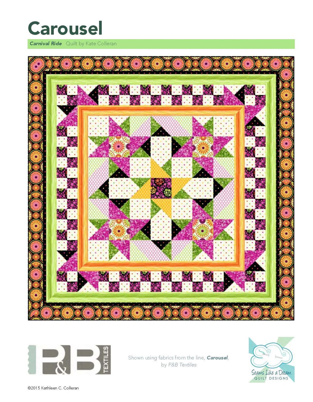 Carnival Ride Quilt Pattern by Kate Colleran Carousel