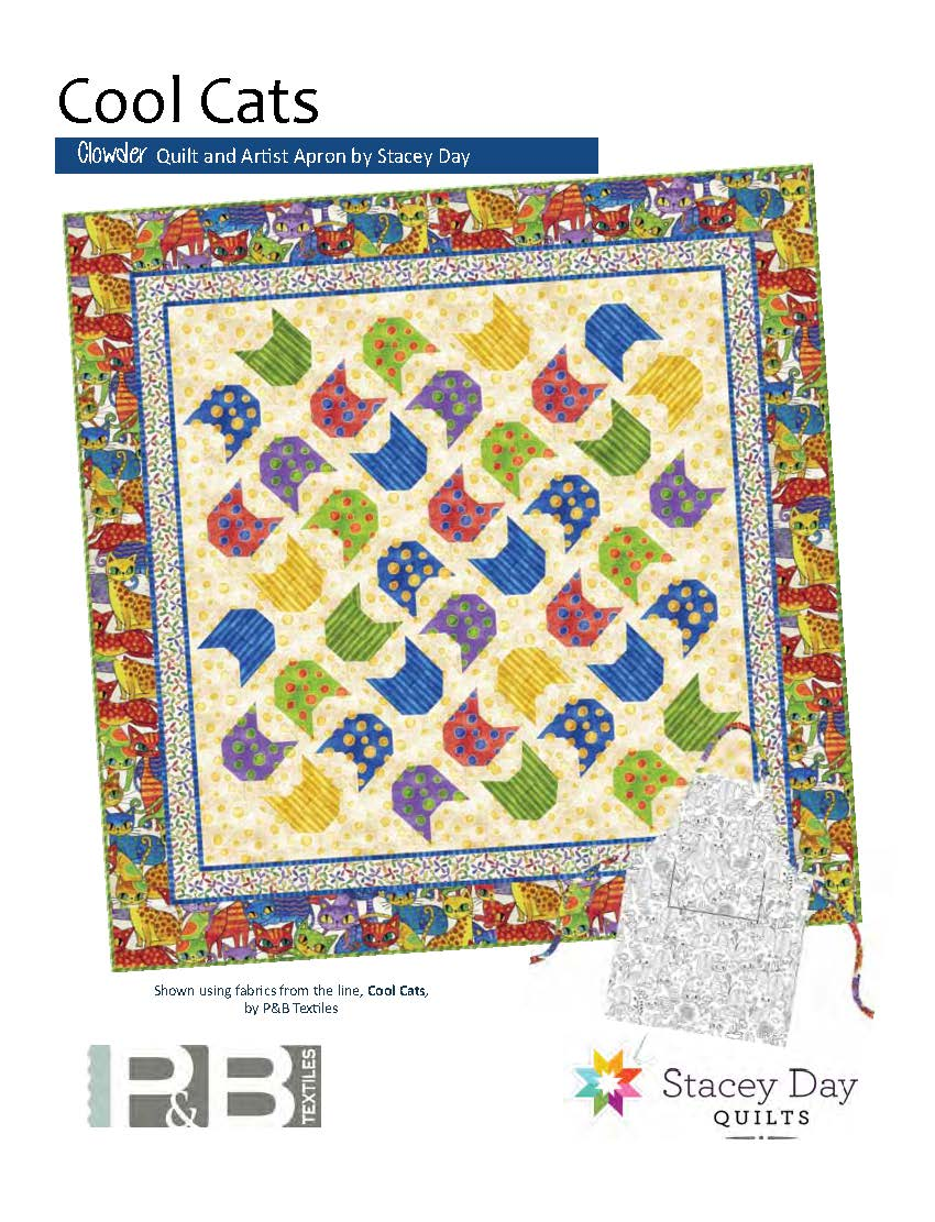 Chowder Quilt and Artist Apron Pattern by Stacey Day Cool Cats