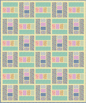 30 Block Quilt by Leslie Sonkin project sheet - full instructions coming soon Vintage 30's Floral