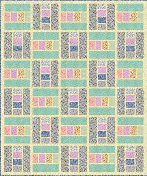 30 Block Quilt by Leslie Sonkin Vintage 30's Floral
