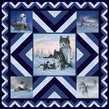 On the Trail by Michelle McAnally Pattern for Purchase Available now! The Collection of Alaska's Artist Jon Van Zyle