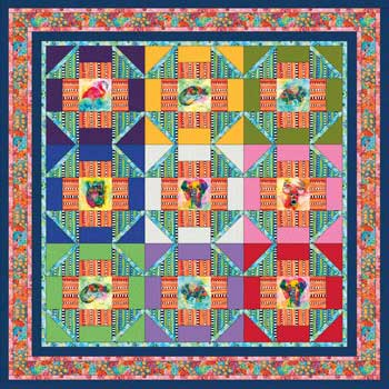 Into the Wild by Sandy Whitelaw Pattern for Purchase Available Sept. 2017 Wild Things