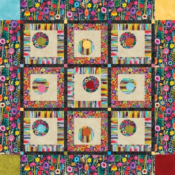Floating Circles Quilt Pattern by Debby Kratovil PRINTEMPS