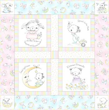 SDSN Stroller Quilt by Sleeping Horse Studio™ Available Dec. 2017 Sunny Days, Starry Nights