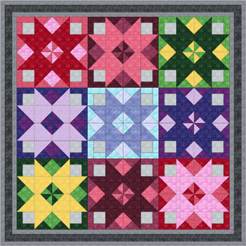 Sandy Whitelaw just sent us this beautiful quilt pattern for purchase made up in Mesh. Click on the quilt to go to her shop.