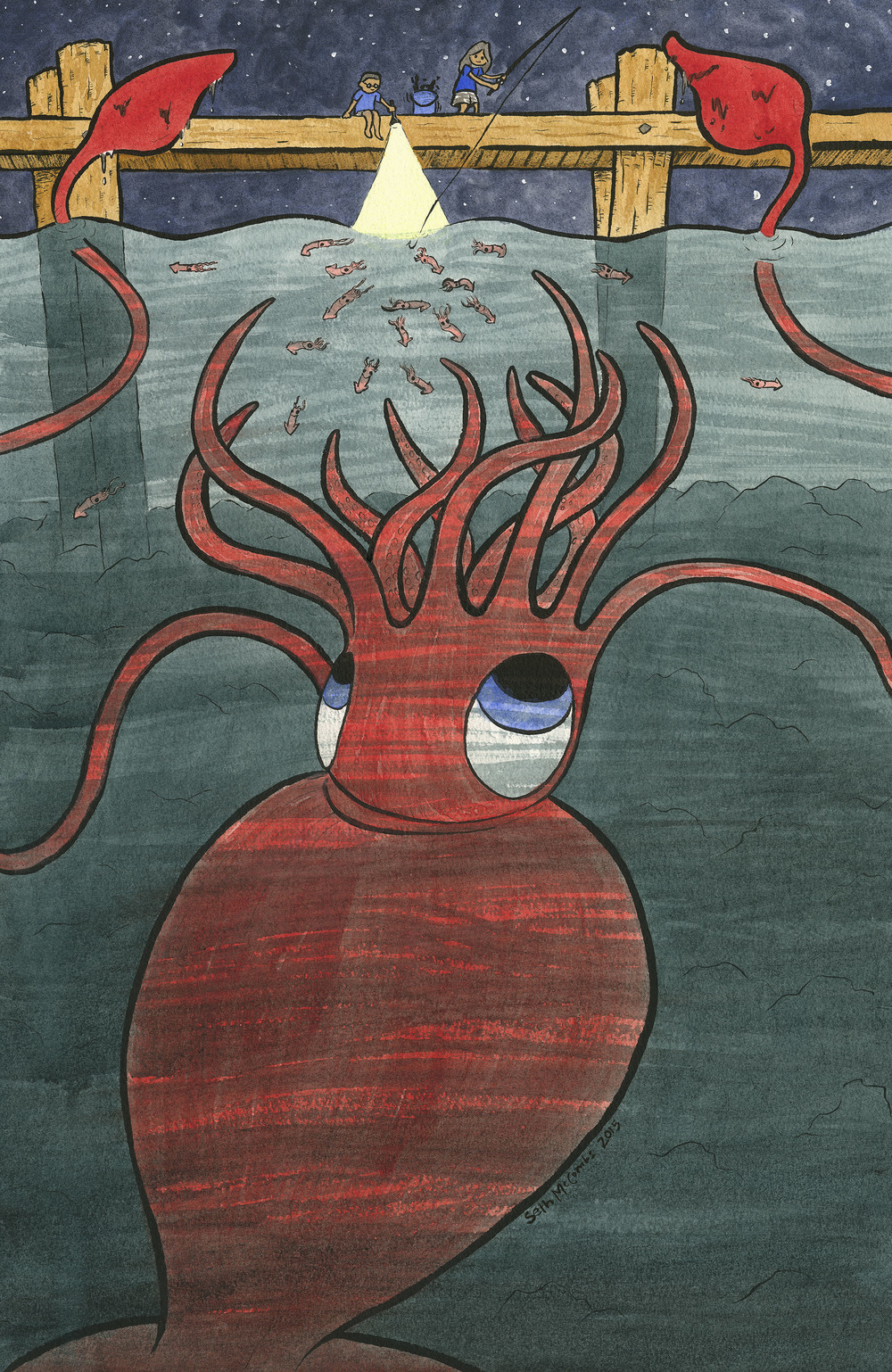 What's Down There?  Colossal Squid!