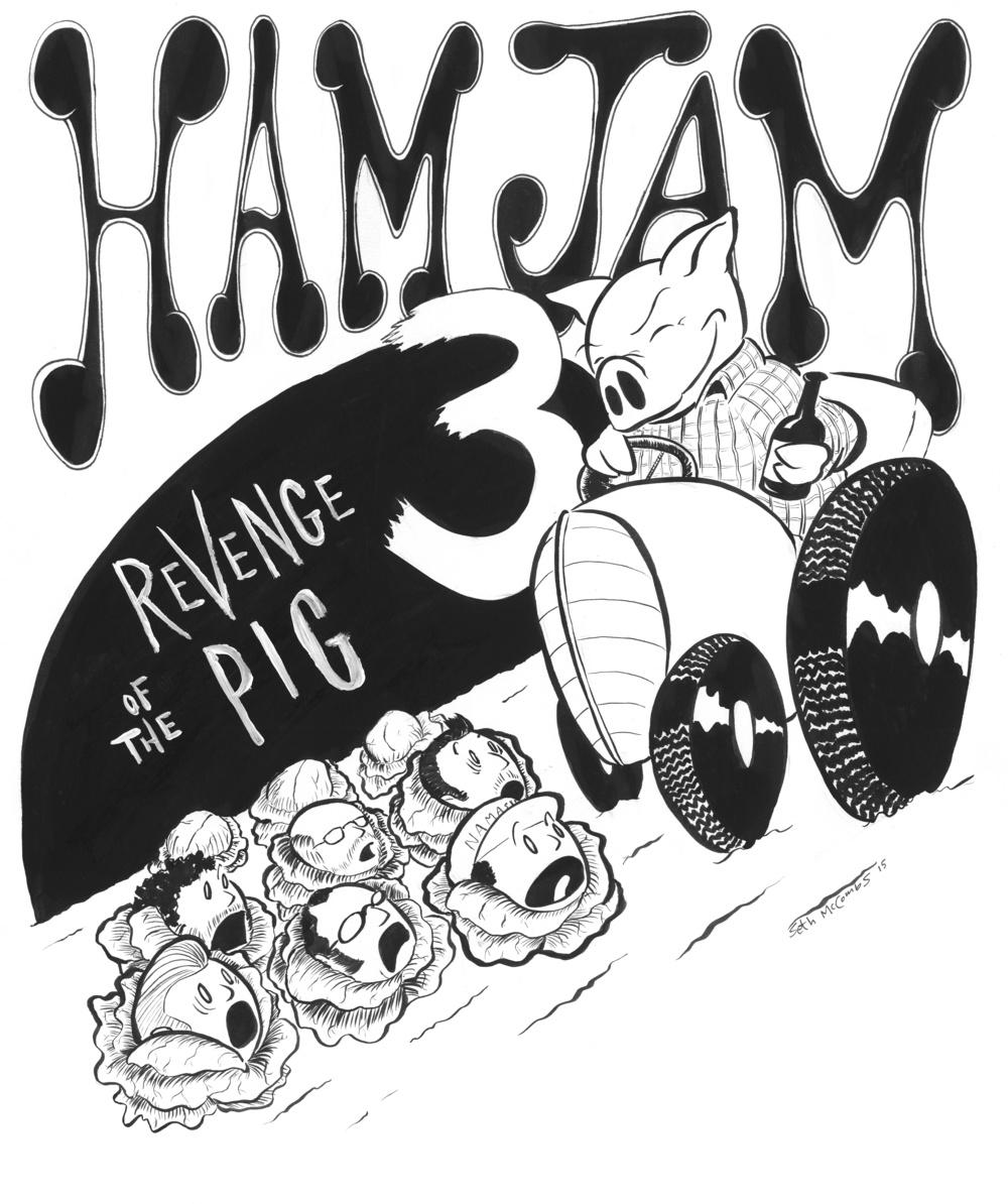 Ham Jam 2015 shirt design