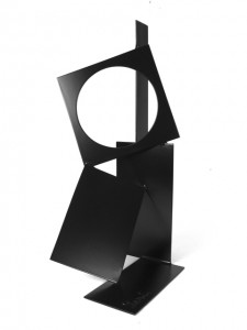 """Circle Square"" by Dennis Leri, 2011. Painted welded steel, 23 x 12 x 8 inches. Courtesy Solar."
