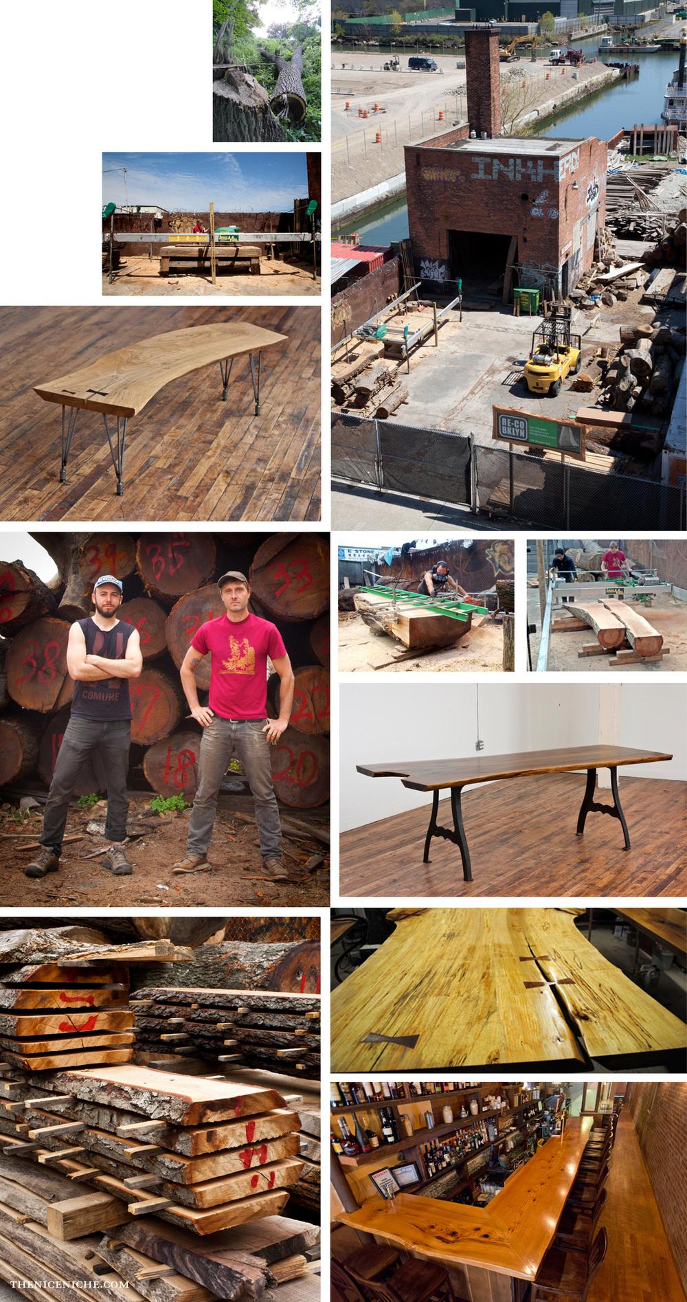 RE CO BKLYN, Brooklyn Lumber Mill + Furniture Design