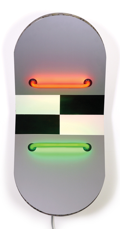 Keith Sonnier, Bodo Junction I, 2005 neon, paint, and aluminum, 29 x 13 x 10 inches. © Keith Sonnier/Artist Rights Society. Photo: Caterina Verde