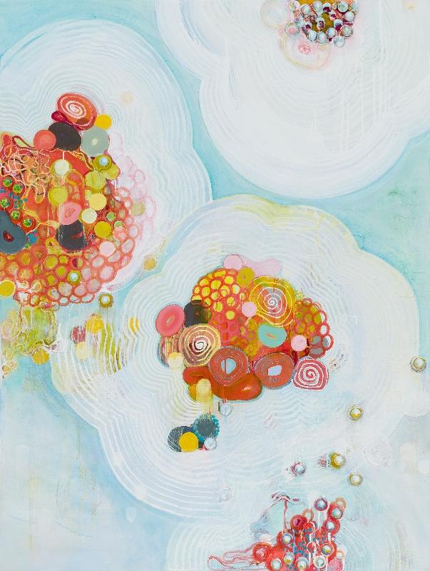 Archipelago, 40 x 30, oil on linen, 2014 by Sarah Lutz