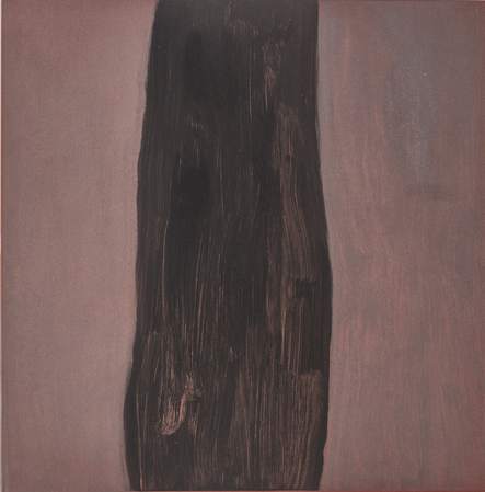 image: Lou Hicks, Lone Tree, 2014, monotype on paper, 17.5 x 17.5""