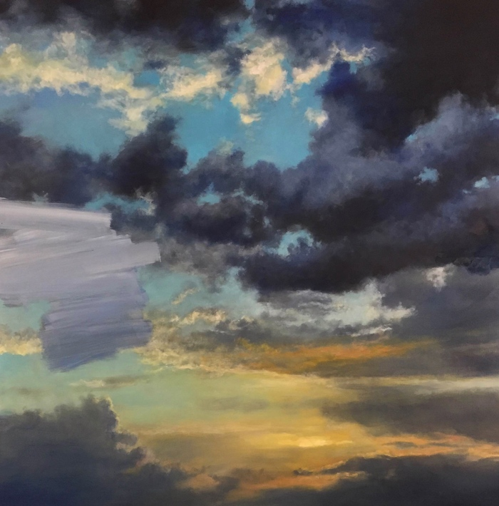 Suspension (Maine sky) III   2015   oil on panel   30x30""