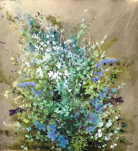 "Cara Enteles, Gone Wild, Oil on acrylic panel, 48"" x 43"""