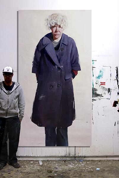 """Scale """"Jijinka"""" oil on canvas  48x96 inches"""