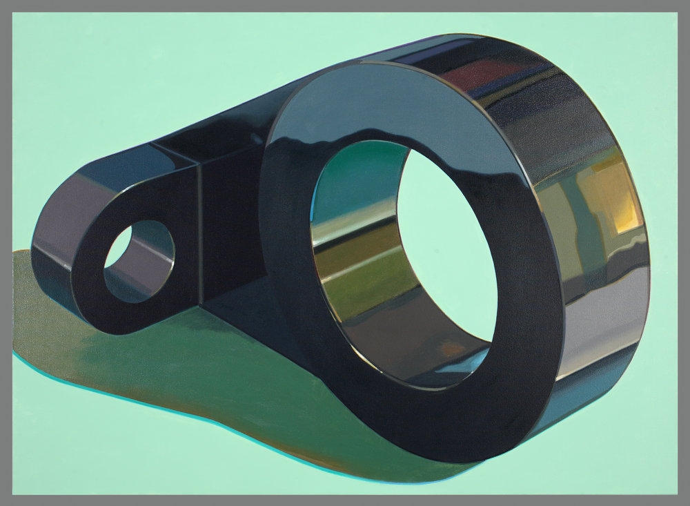 "IX – Robert Cottingham, ""IX"". 2011. Oil on canvas."