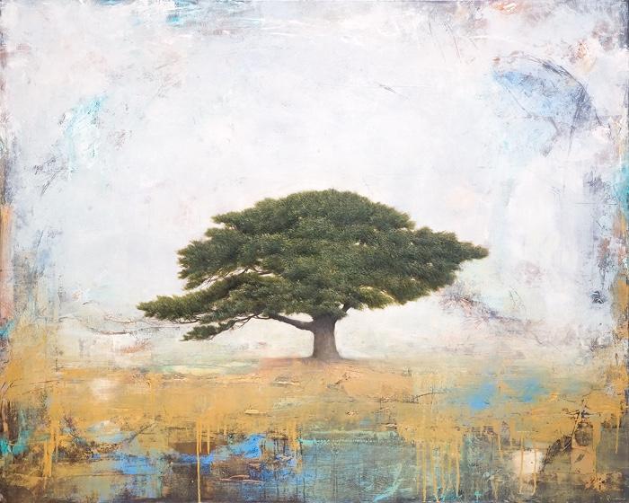 """New Beginnings,"" oil on wood panel, 48"" x 60"""