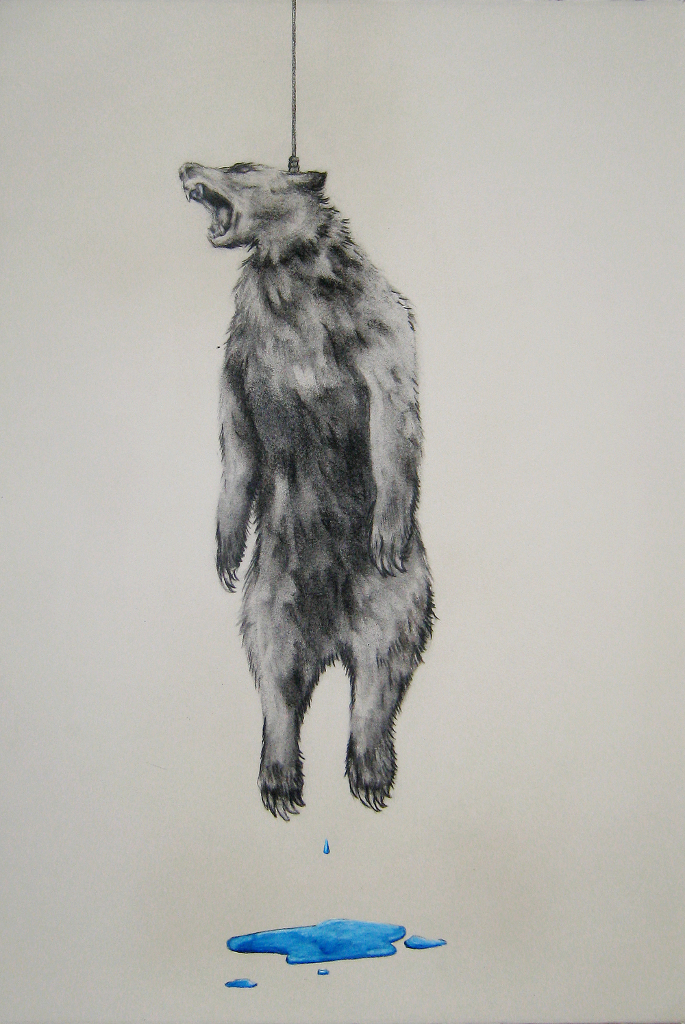 Walk of Fame 3,  2012  Charcoal and pencil on paper  14x22""