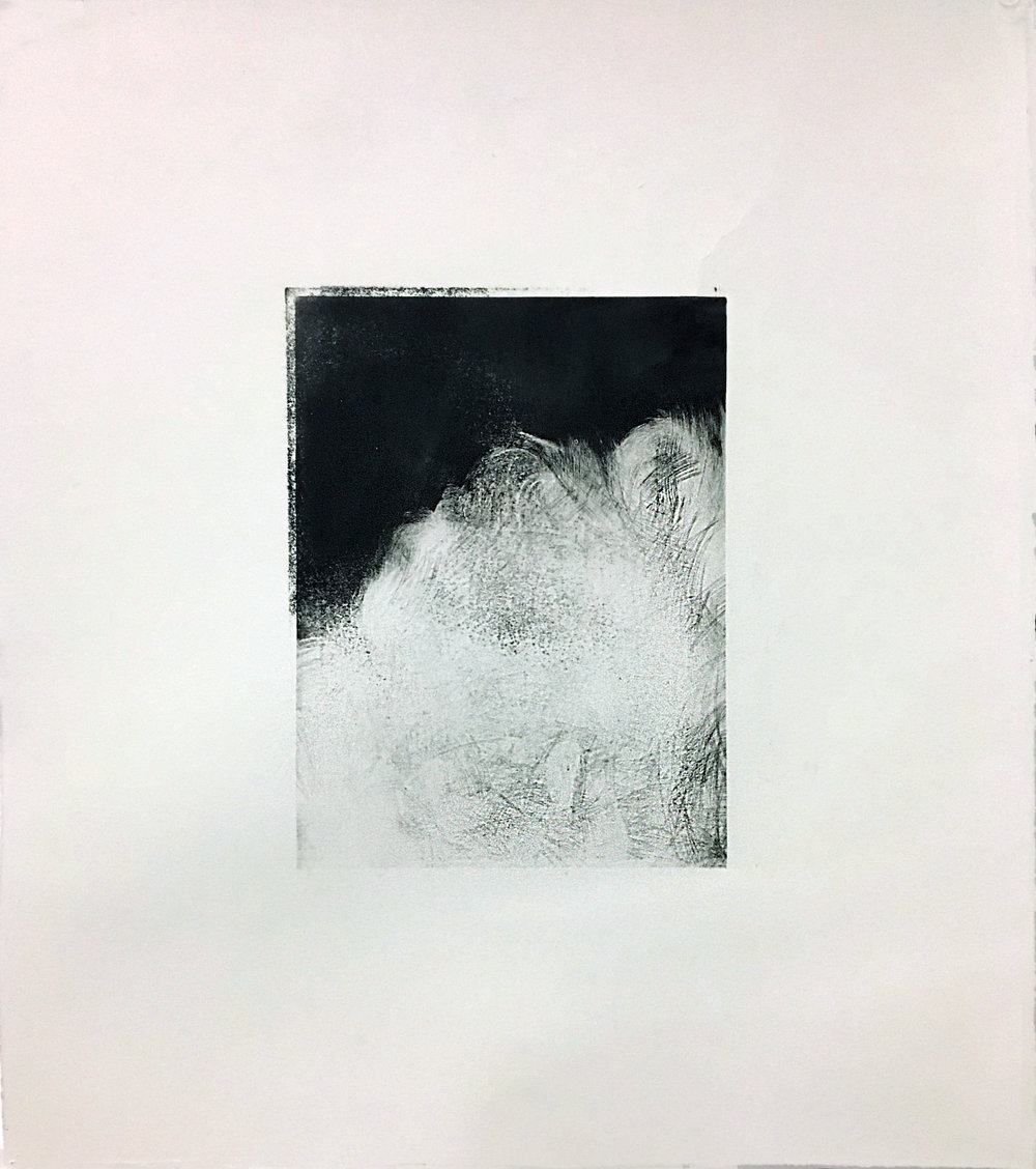 Untitled, (Nothing),  2016  Mezzotint  16x20""