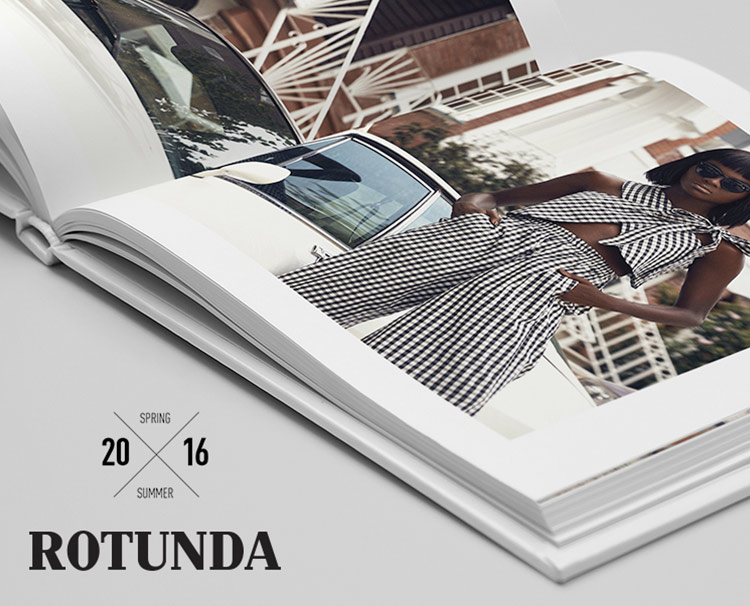 Graphic Design for Rotunda, the fashion label