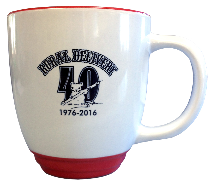 Grab your 40th Anniversary Rural Delivery mug today!