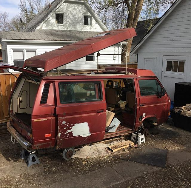 While we sell most vans we build out, this 1987 VW Vanagon will not be for sale. This one is for us. Starting with a very rough blank slate, but an exciting blank slate nonetheless.  #rossmonstervans