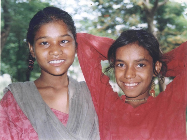 Bhurrie (right) with friend in year 2000