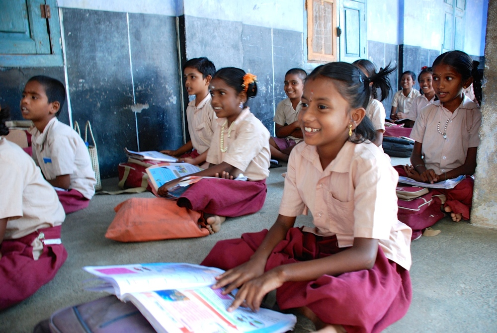 Yettukkudaisai Panchayat Union Primary School students review their formal subjects