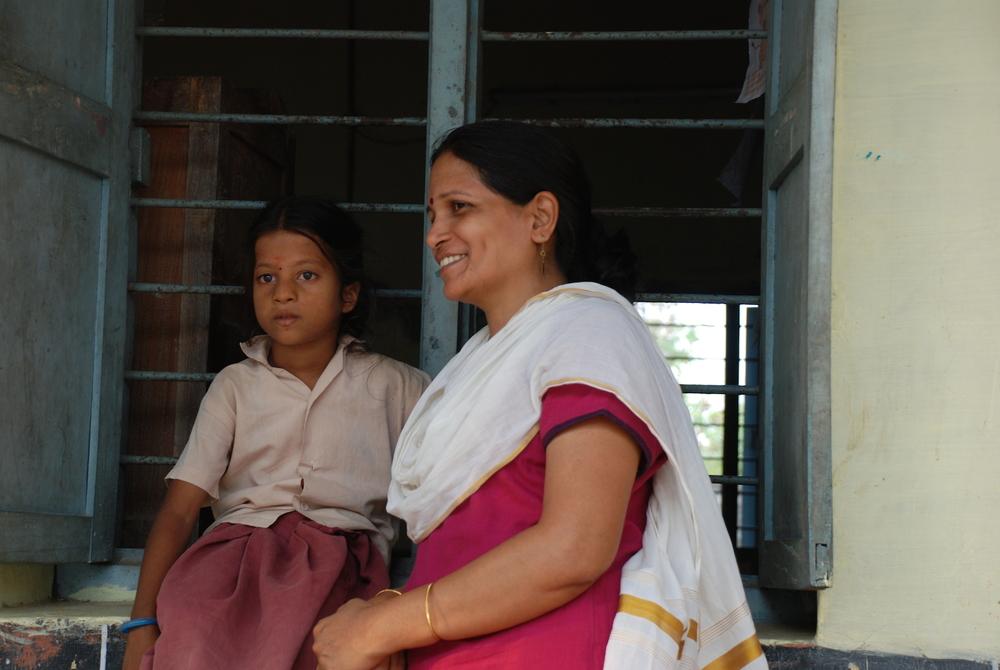 Principal at Alahagu Senaai Village School with Lotus tutee