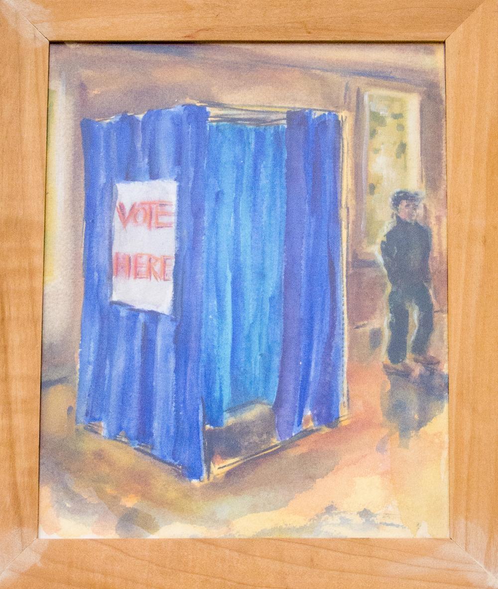 Vote Here by Anne Delaney