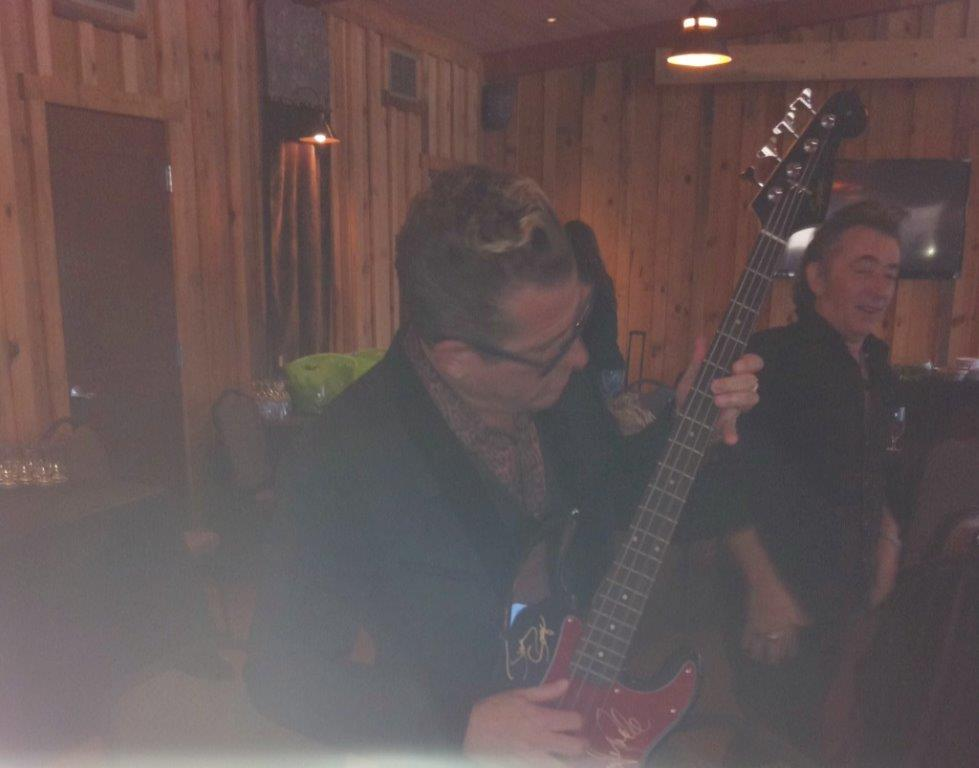Lee Rocker with Bill's guitar.jpg