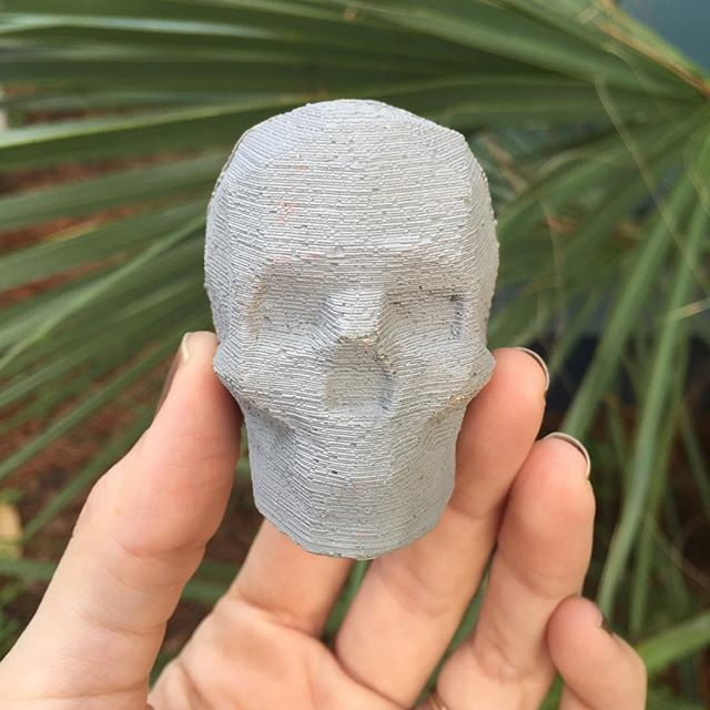 You can win this concrete object that was cast from a 3D printed skull by following the company that makes our concrete bases @ossoconcrete on Instagram and tagging a friend. 👍