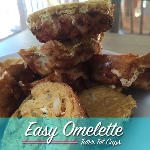 Easy Omelette Tater Tot Cups