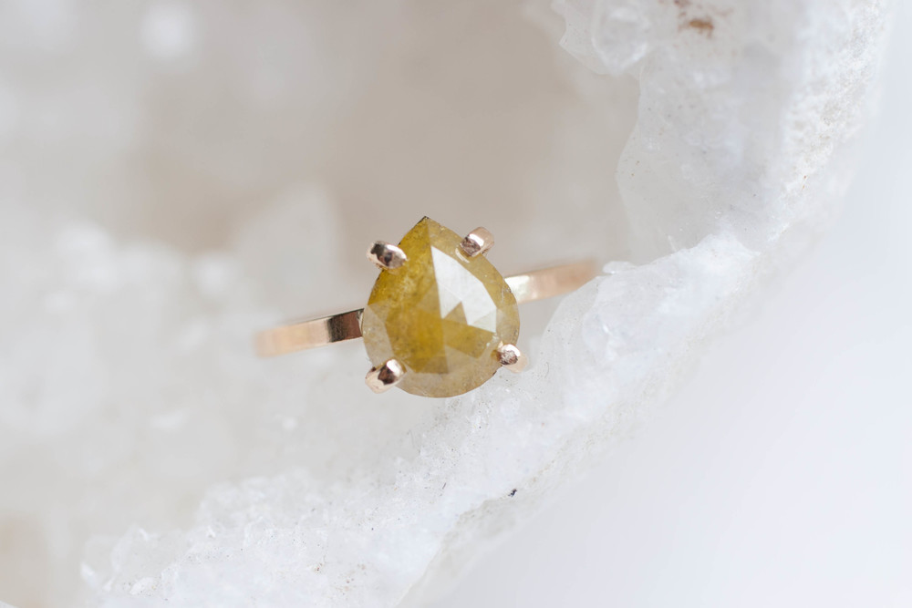 Yellow Diamond Pear Cut Solitaire-5.jpg