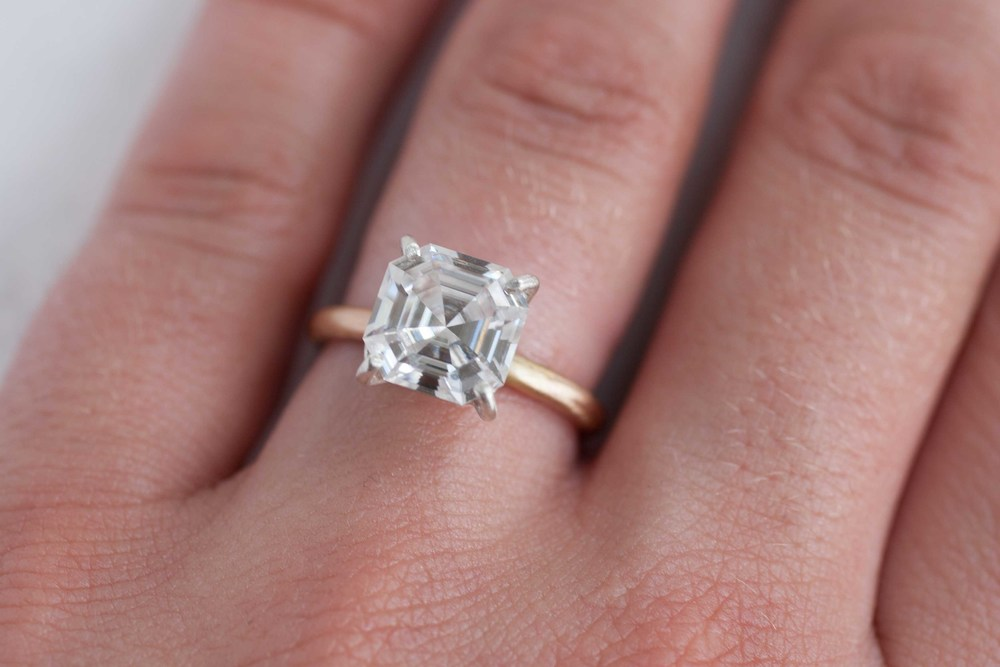 Very Pink Moissanite Engagement Rings Ma04