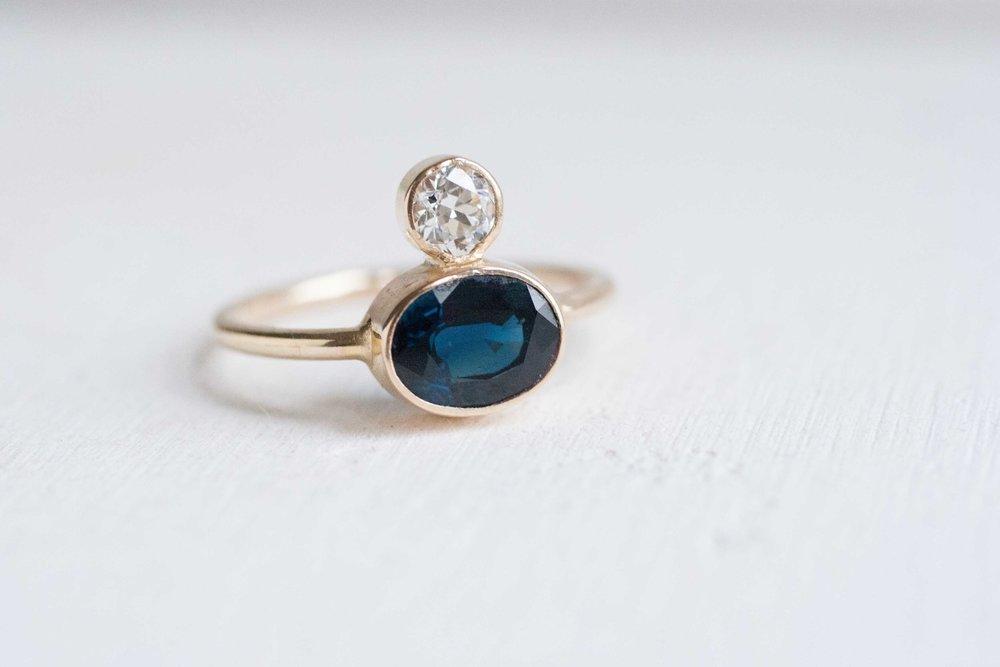 Dylan + Hannah Heirloom Sapphire Ring-4.jpg