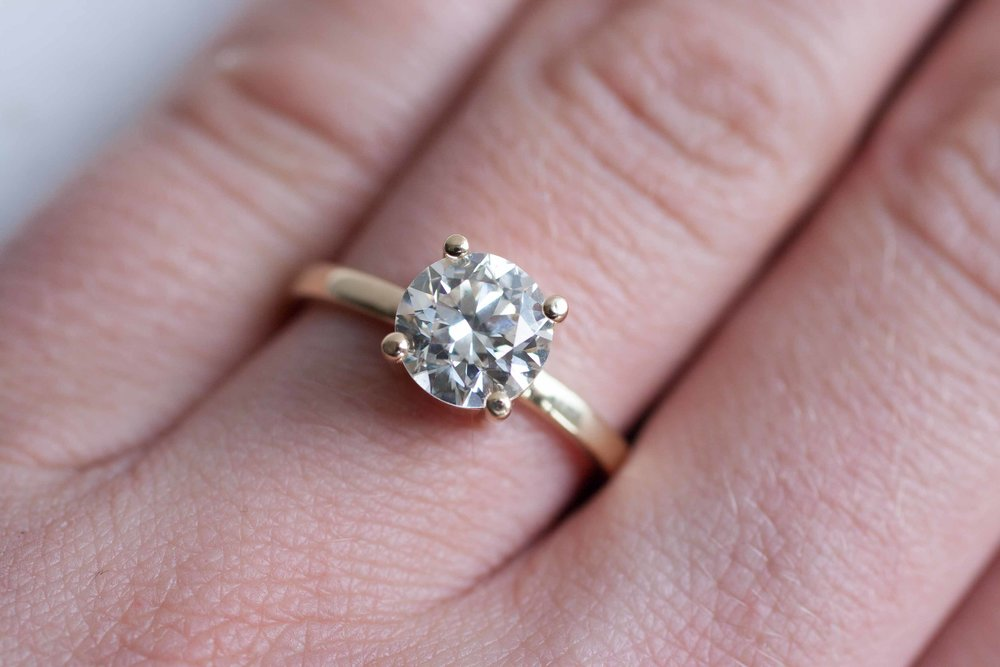 Lauren + Josh Custom Heirloom Diamond Solitaire-17.jpg