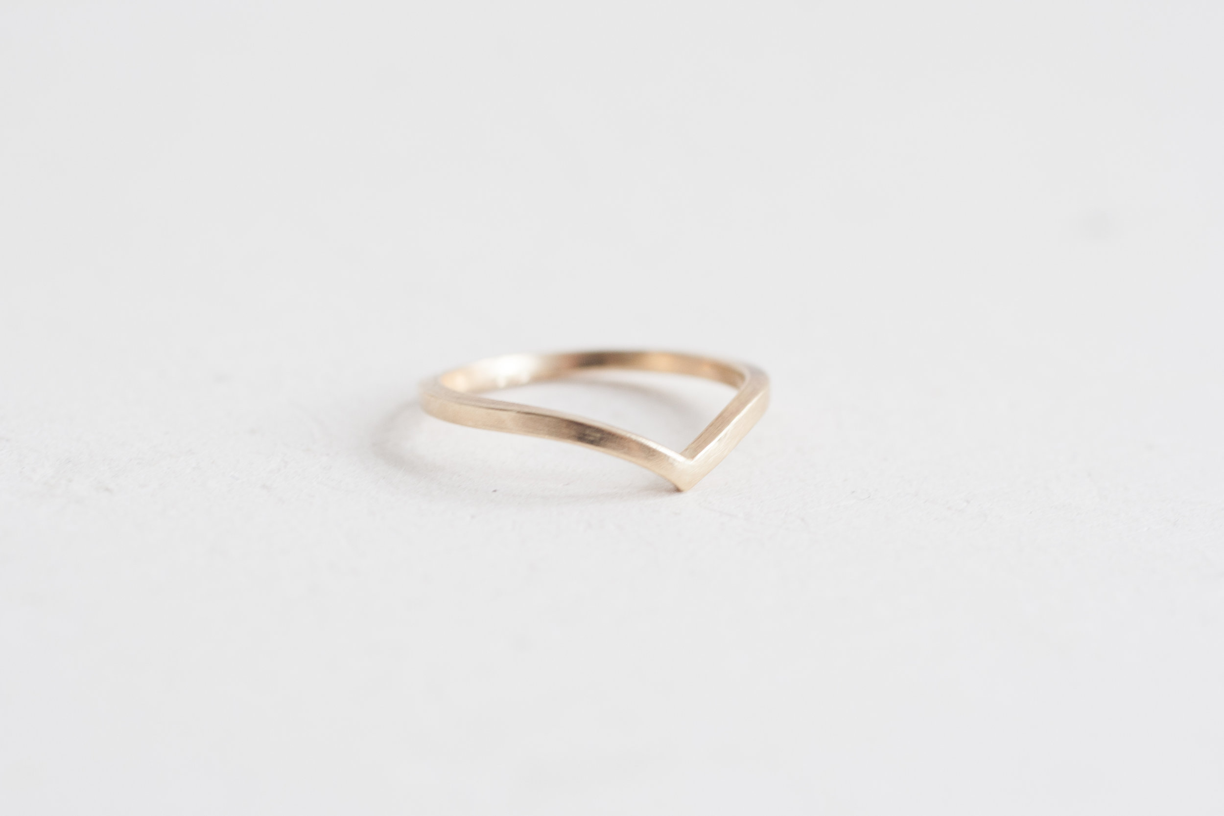 5166fa7ef Square Contour V Band | 14k Recycled Yellow Gold — Mineralogy