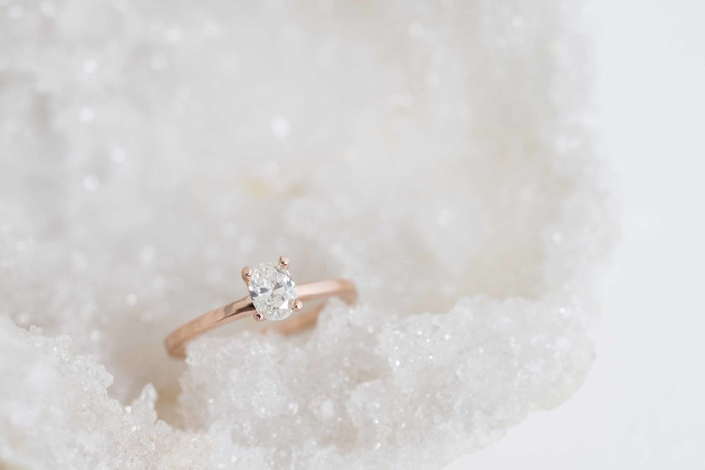 Robert Guertin Custom Oval DIamond Solitaire Rose Gold Engagament Ring-3.jpg