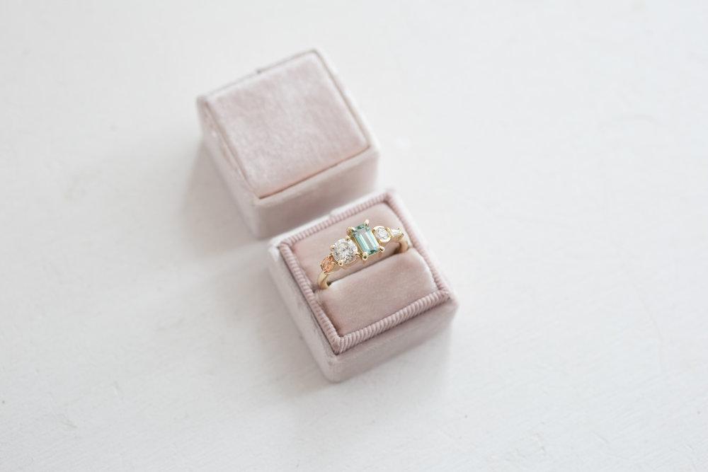 Laura Morris Tourmaline, Diamond, + Sapphire Engagament Ring-15.jpg