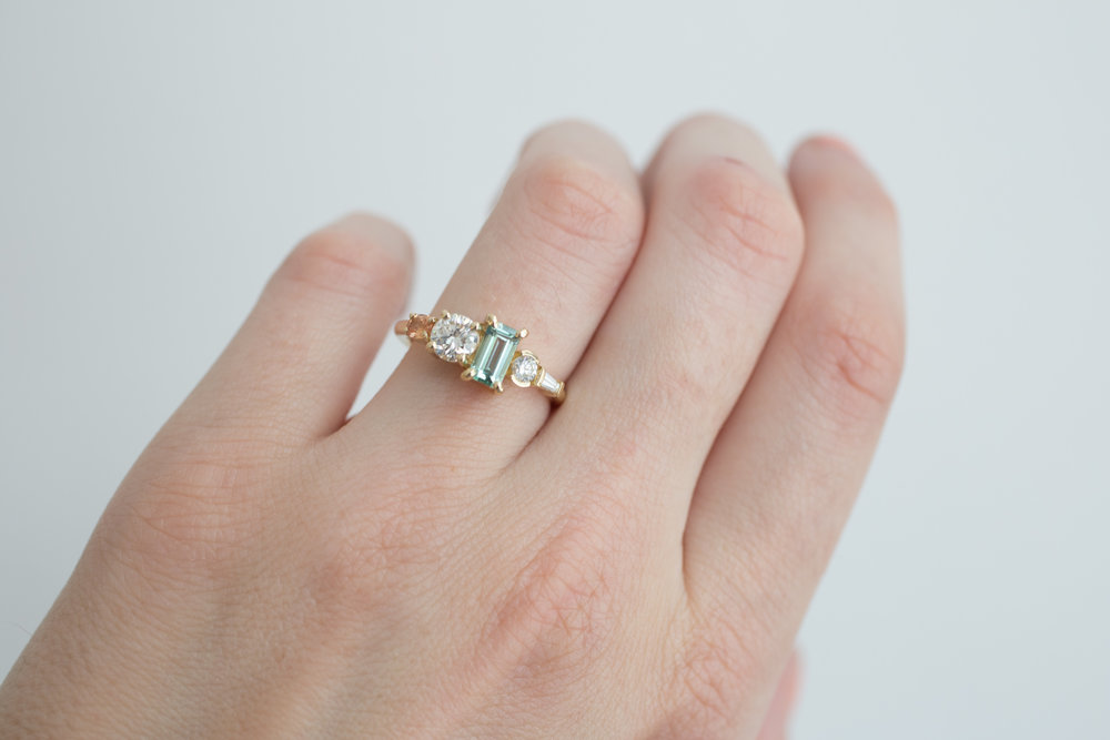 Laura Morris Tourmaline, Diamond, + Sapphire Engagament Ring-18.jpg
