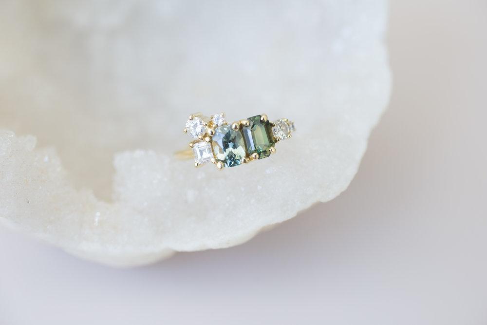 Kristen + Jim Stewart Double Sapphire Diamond Cluster Ring-6.jpg
