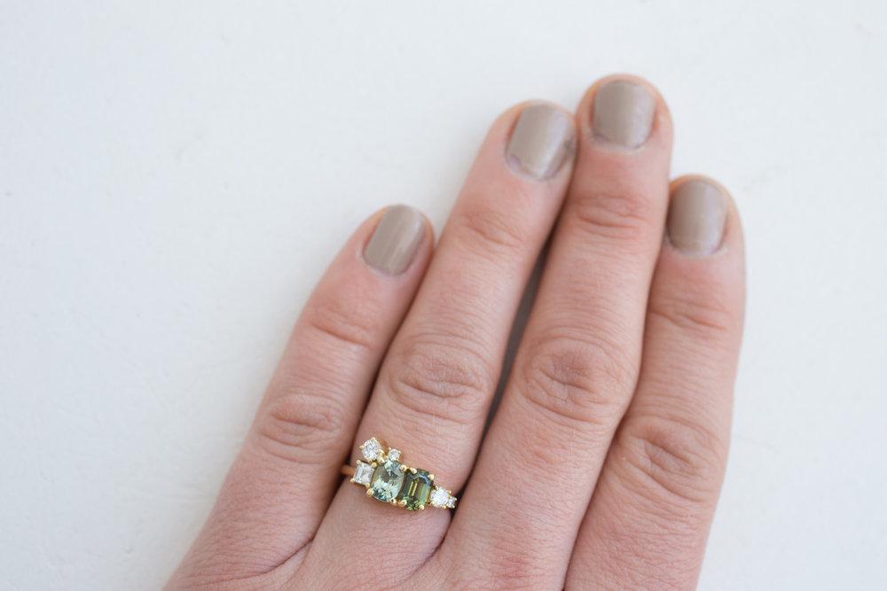 Kristen + Jim Stewart Double Sapphire Diamond Cluster Ring-18.jpg