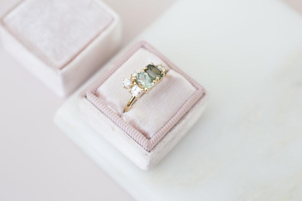 Kristen + Jim Stewart Double Sapphire Diamond Cluster Ring-13.jpg